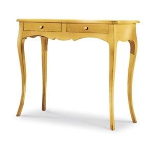 Măsuță consolă, din lemn,  Castagnetti, auriu