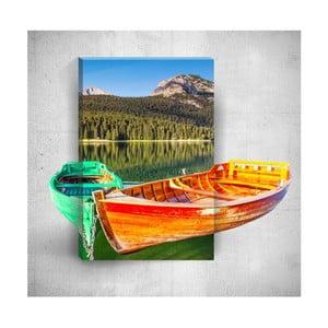 Nástěnný 3D obraz Mosticx Two Boats On The River, 40 x 60 cm