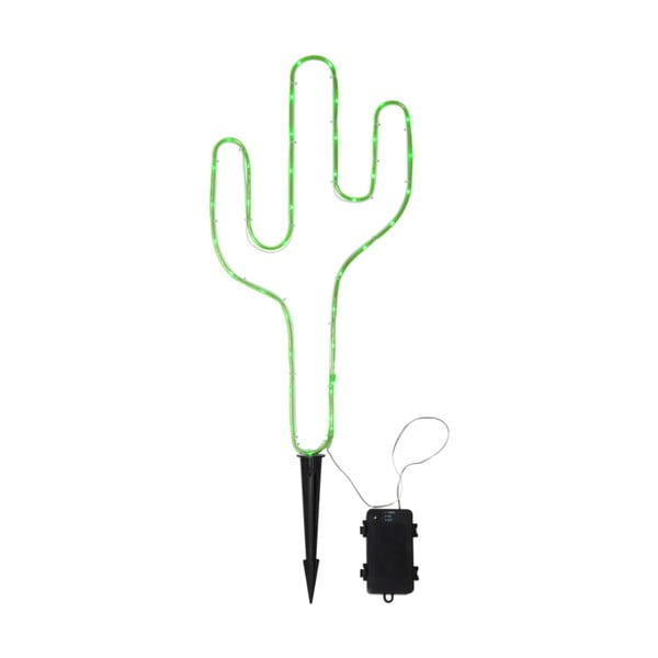 Decorațiune LED în formă de cactus Best Season Tuby, verde