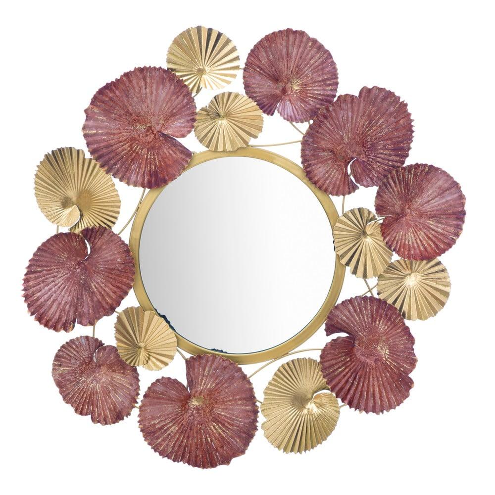 Nástěnné zrcadlo Mauro Ferretti Leaves, ø 71 cm