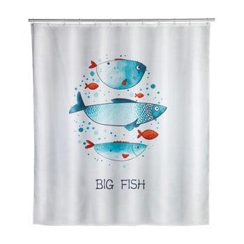 Perdea de baie lavabilă Wenko Big Fish, 180x200cm imagine