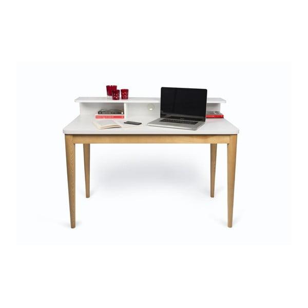 Bílý pracovní stůl TemaHome Xira