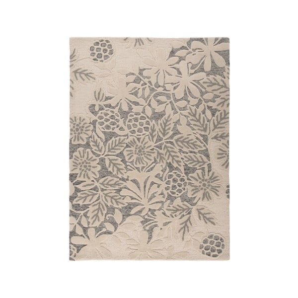 Šedý vlněný koberec Flair Rugs Loxley, 120 x 170 cm