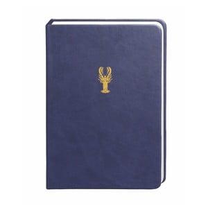 Tmavě modrý zápisník Portico Designs, 300 stránek