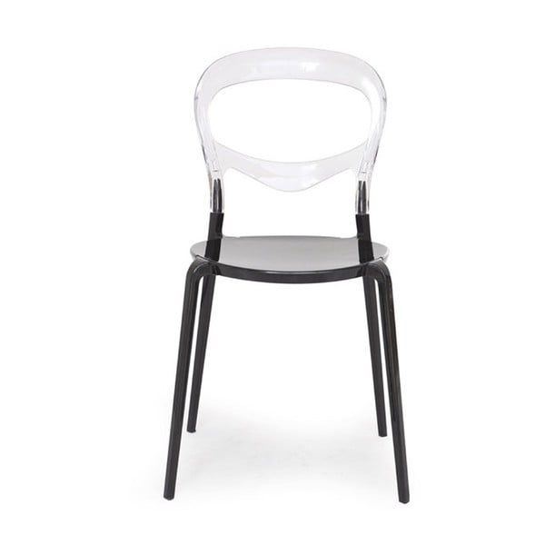 Sada 2 černých židlí Garageeight Monpelie