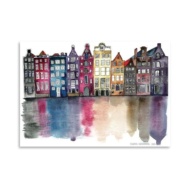 Plakát Americanflat Amsterdam by Claudia Libenberg, 30 x 42 cm