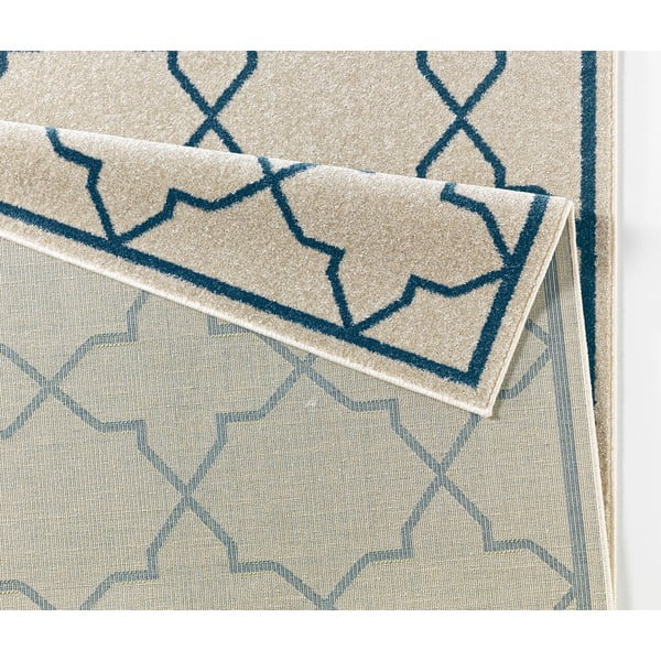 Modrý koberec Chateau Viva, 70x140 cm