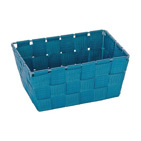 Coș pentru depozitare Wenko Adria, 14 x 19 cm, albastru petrol