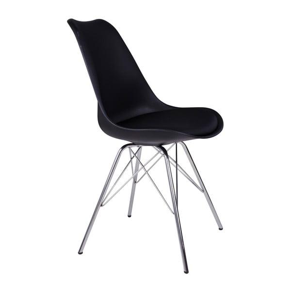 Sada 2 černých židlí House Nordic Oslo Chrome