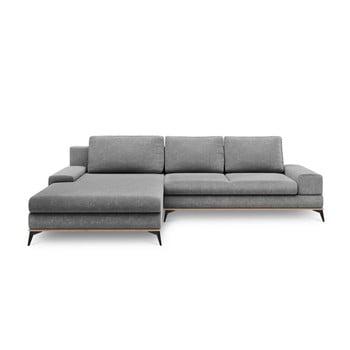 Canapea extensibilă tip colțar cu șezlong pe partea stângă Windsor & Co Sofas Planet, gri de la Windsor & Co Sofas