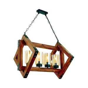Závěsné svítidlo z habrového dřeva Estelya 4lü