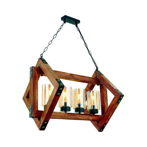Lampa wisząca z drewna grabu Estelya 4lü