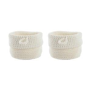 Sada 2 bílých košíků Zone Confetti, 13 cm