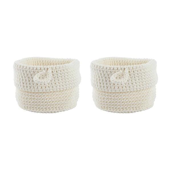 Sada 2 bielych košíkov Confetti White, 13 cm