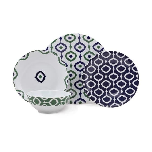 24-częściowy zestaw talerzy porcelanowych Kutahya Pallioso