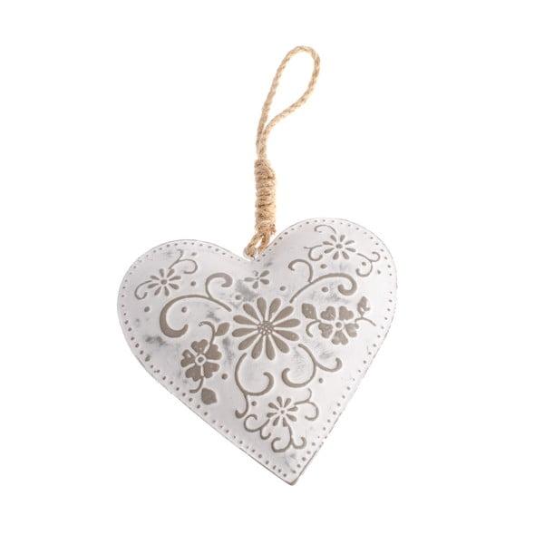 Decorațiune metalică suspendată în formă de inimă Dakls Flowers