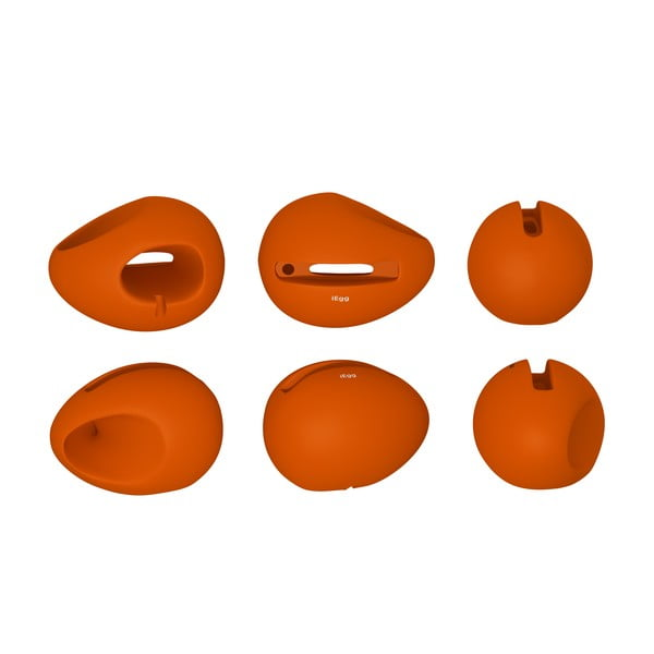 Stojan a zesilovač iEgg na iPhone 4/4S, oranžový