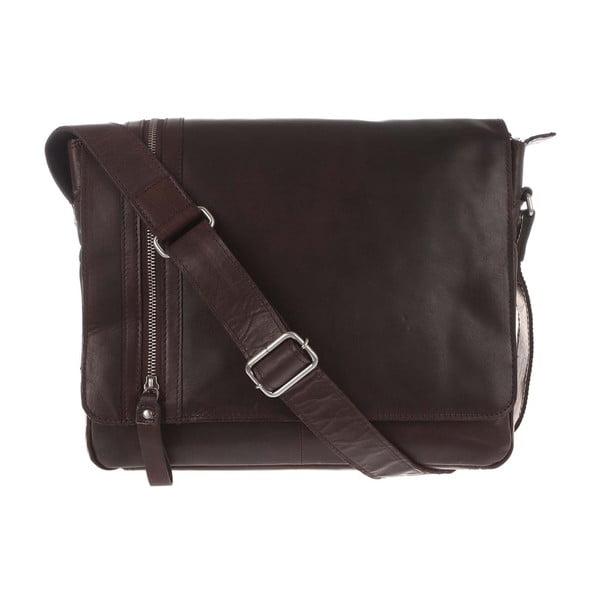 Pánská kožená taška Dark Brown Leather Messenger