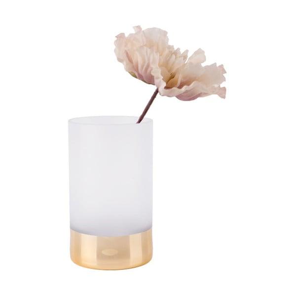 Bílo-zlatá matná váza PT LIVING Glamour, výška 20 cm