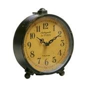 Kovový budík, antique black,18x14x8 cm