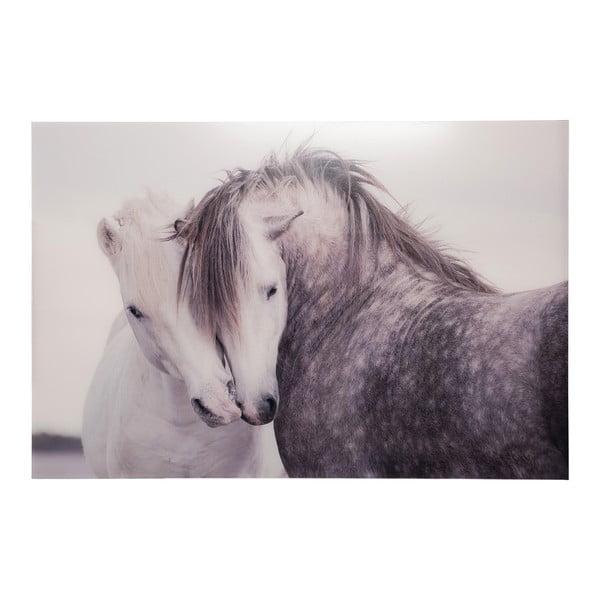 Skleněný obraz J-Line Horses, 80x120 cm