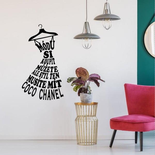Samolepka na stenu s citátom Ambiance Coco Chanel