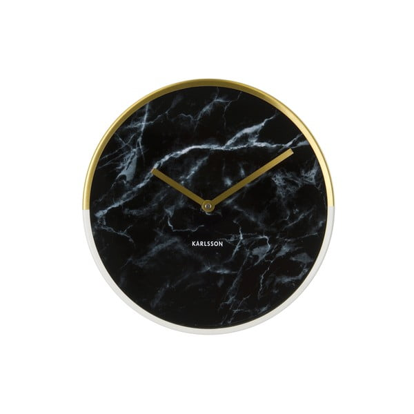 Hodiny Present Time Marble Delight Black