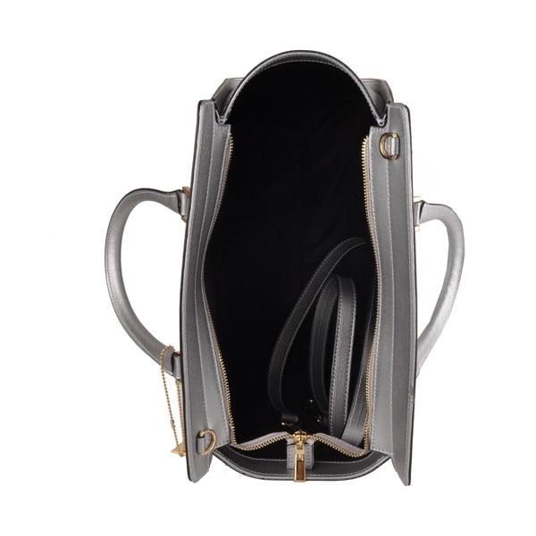 Kožená kabelka Emilio Masi Harbour, stříbrná