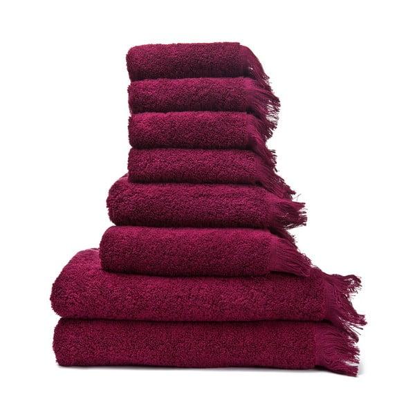 Sada 6 červených uterákov a 2 osušiek zo 100% bavlny Bonami