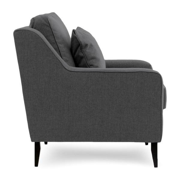 Canapea cu 2 locuri Vivonita Bond, gri închis