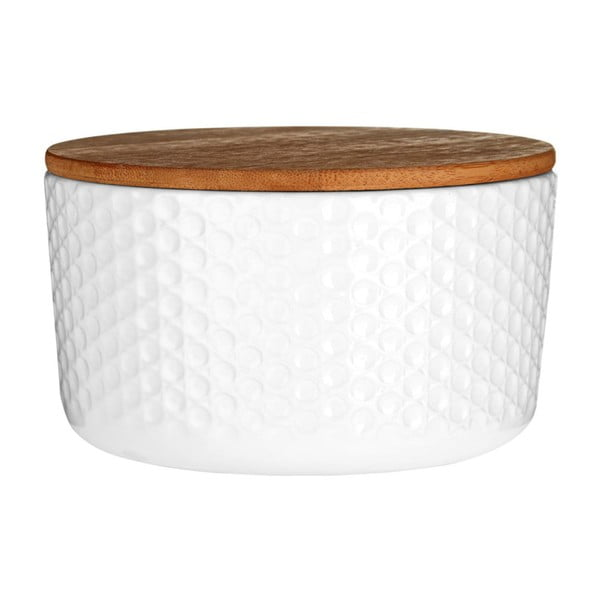 Fehér ételtároló doboz, bambusz tetővel - Premier Housewares