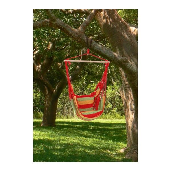 Červené závěsné zahradní křeslo ADDU Tobago