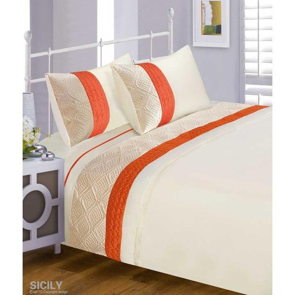 Povlečení Sicily Orange, 200x200 cm