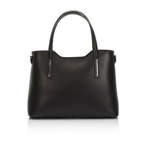 Černá kožená kabelka Markese Terra