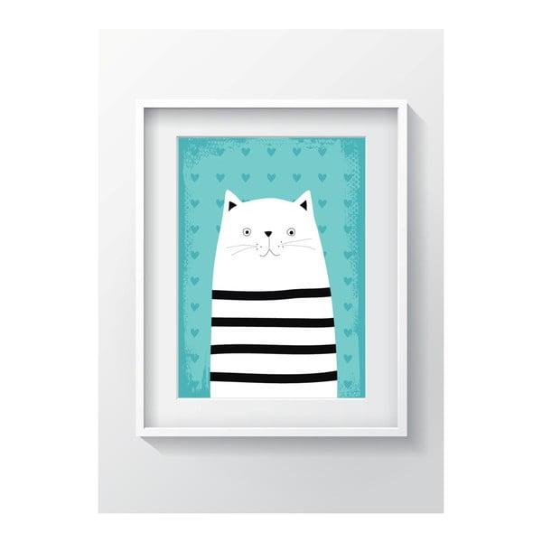 Nástenný obraz OYO Kids Animals With Stripes Cat, 24 x 29 cm