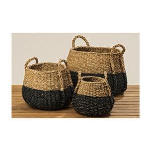 Sada 3 košíků z mořské trávy Boltze Sophian