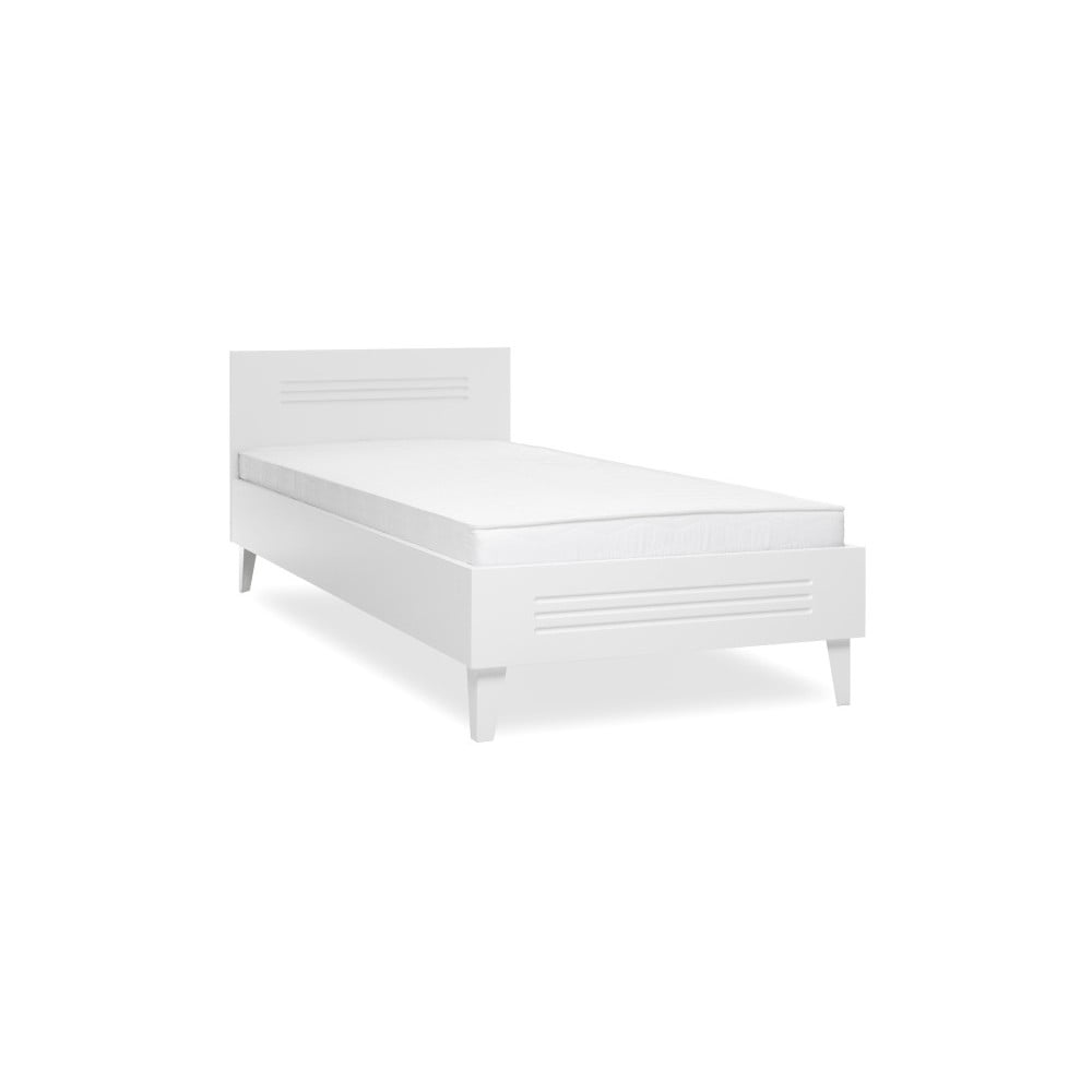 Bílá jednolůžková postel Intertrade Factory, 90 x 200 cm