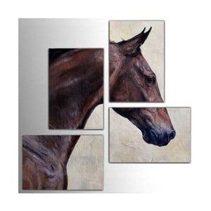 4dílný obraz Horse, 76x76 cm