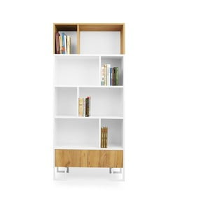Bibliotecă din lemn de stejar SKANDICA Hesse