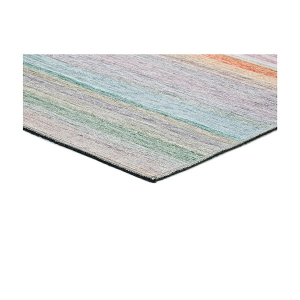 Barevný pruhovaný koberec s vysokým podílem bavlny Universal Exclusive, 160 x 115 cm