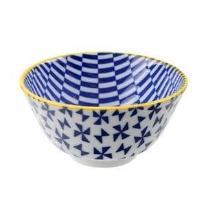 Porcelánová miska Geo Rice Blue, 12x6,4 cm