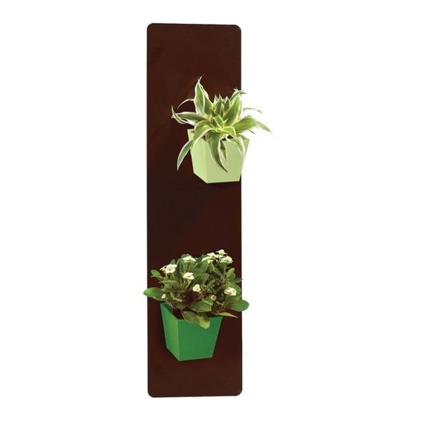 Podstavec pro magnetické květináče, hnědý, 14x50 cm