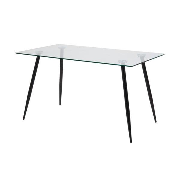 Jídelní stůl se skleněnou deskou Actona Wilma,140x75cm