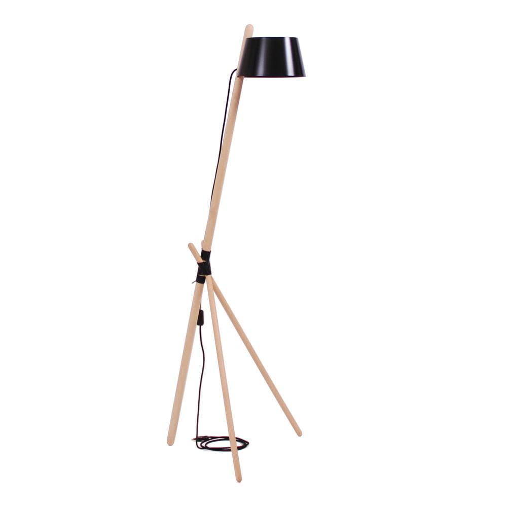 Černá volně stojící lampa Woodendot Ka M
