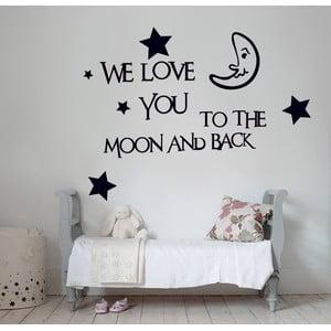 Samolepka na stěnu We Love You, 60x90 cm