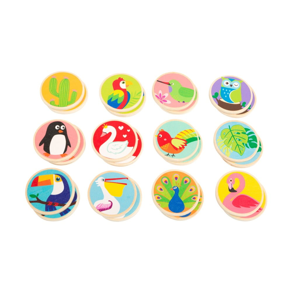 Dětské dřevěné pexeso Legler Birds of the World