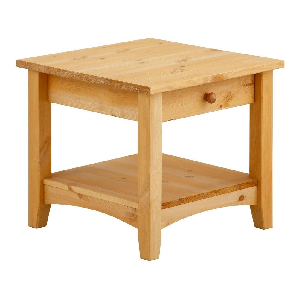 Konferenční stůl se šuplíkem z masivního borovicového dřeva Støraa Chub S