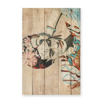 Tablou din lemn de pin Madre Selva Collage of Frida, 40 x 60 cm poza