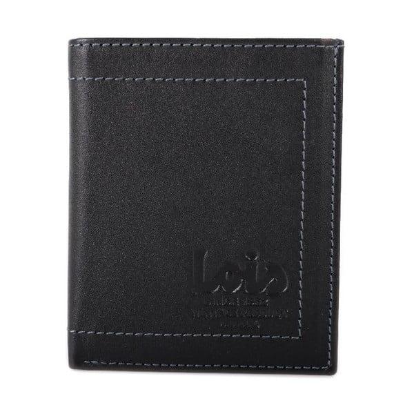 Kožená peněženka Lois Black, 8x10 cm