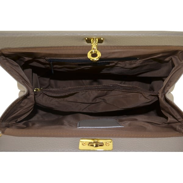 Kožená kabelka Carla, béžová